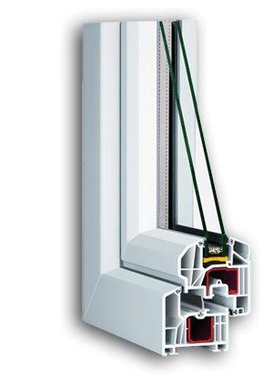 Пример окна из пластика, внутренности