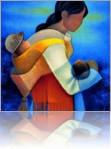 Избранные картины со слингами от известных художников. Большая коллекция подобных картин доступна на сайте slingokonsultant.ru. Там же опубликована галерея статуэток со слингами и очень интересная серия этнических фотографий со слингами. Рекомендую!
