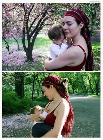 Кормление грудью на природе