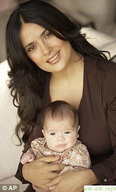 Сальма Хайек с дочкой Валентиной