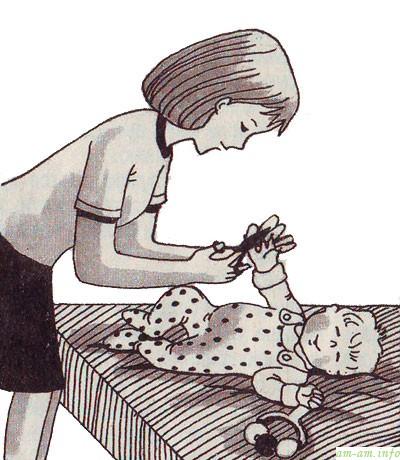 Подстригаем ребенку ногти!