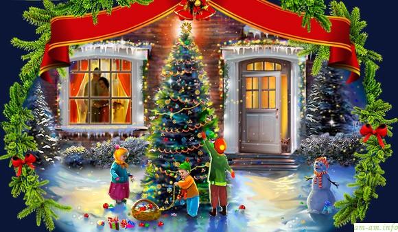 Новогодние праздники дети в дании в