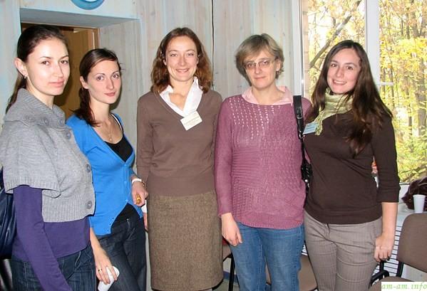 Конференция АКЕВ. Лилия Казакова (вторая справа)