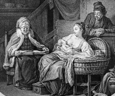 Грудное вскармливание в Англии 18 века