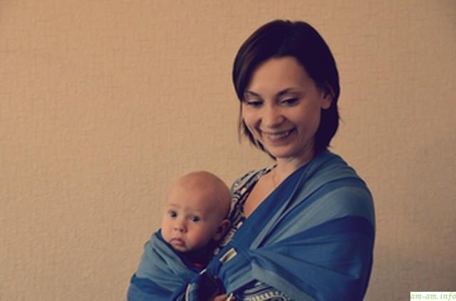 Оля в слинге с ребенком - Мамин клуб в Минске