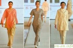 Показ мод, где презентовали новое белье для кормящих грудью мам в Китае