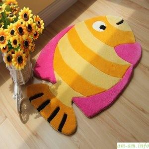Детский коврик для ванной в виде рыбки