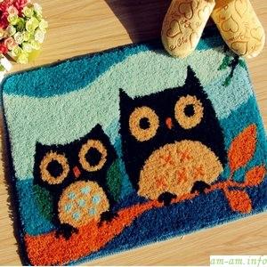 Детский коврик для ванной с совами