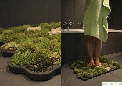 Коврик для ванной в виде травы