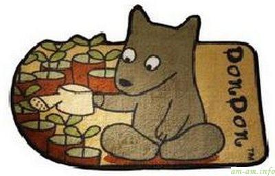 Детский коврик для ванной в виде собаки