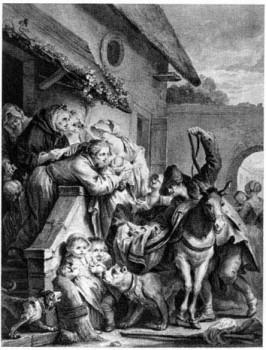 Отъезд кормилицы, Жан Батиста Греза, 1780