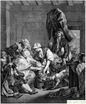 Возвращение от кормилицы, Жан Батиста Грёза