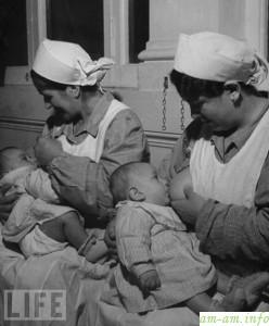 Кормилицы в США, первая половина 20 века, фото журнала Life