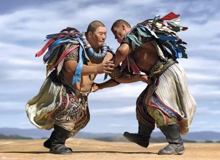 Монгольские борцы