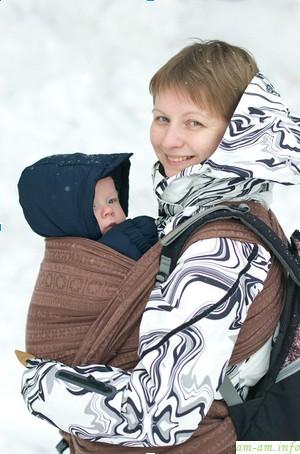 Слинг для зимы на одежду