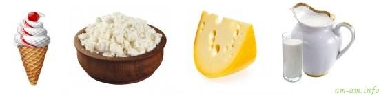 Молочные продукты при кормлении грудью