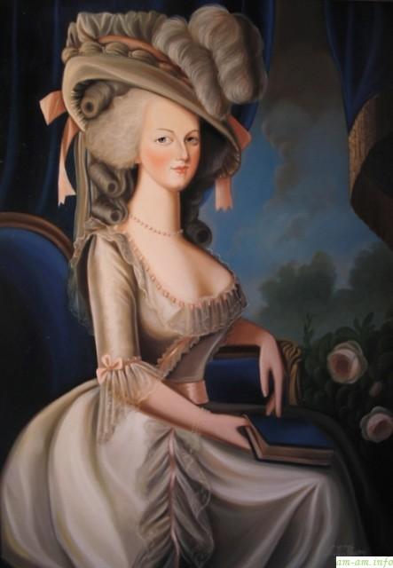 Мария Антуанетта на картине