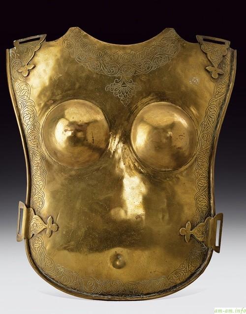 Старинные бронированные накладки для груди