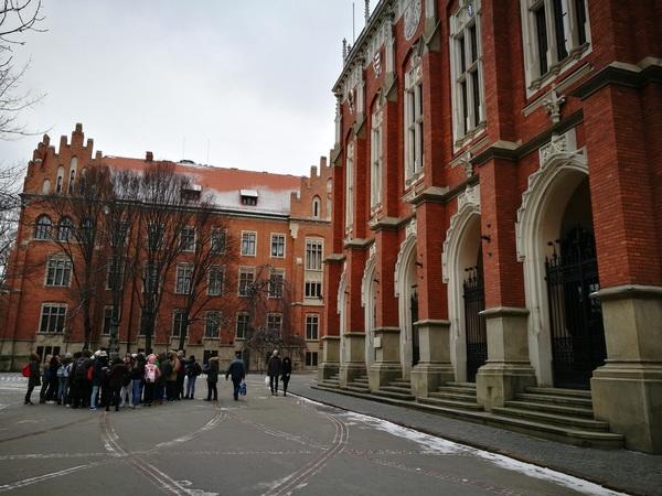 Возле Ягелонского университета
