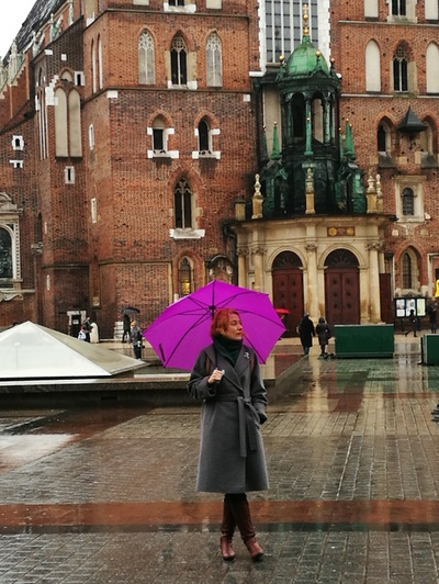 В Кракове под зонтом
