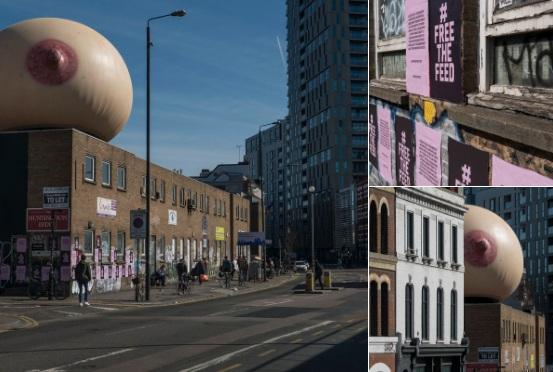 Акция в Лондоне в поддержку грудного вскармливания