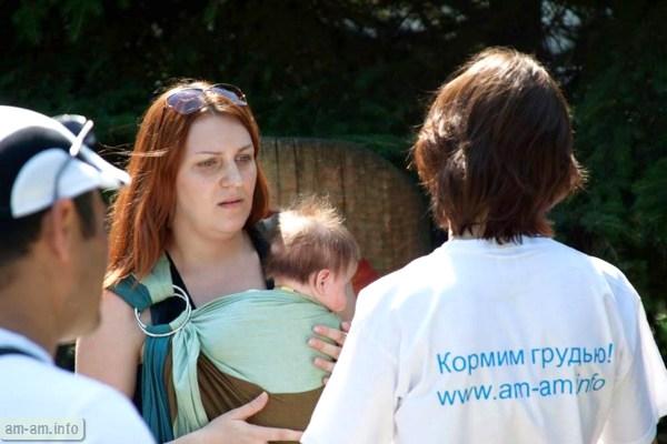 консультация по ГВ в парке, Парад колясок, Минск 2014